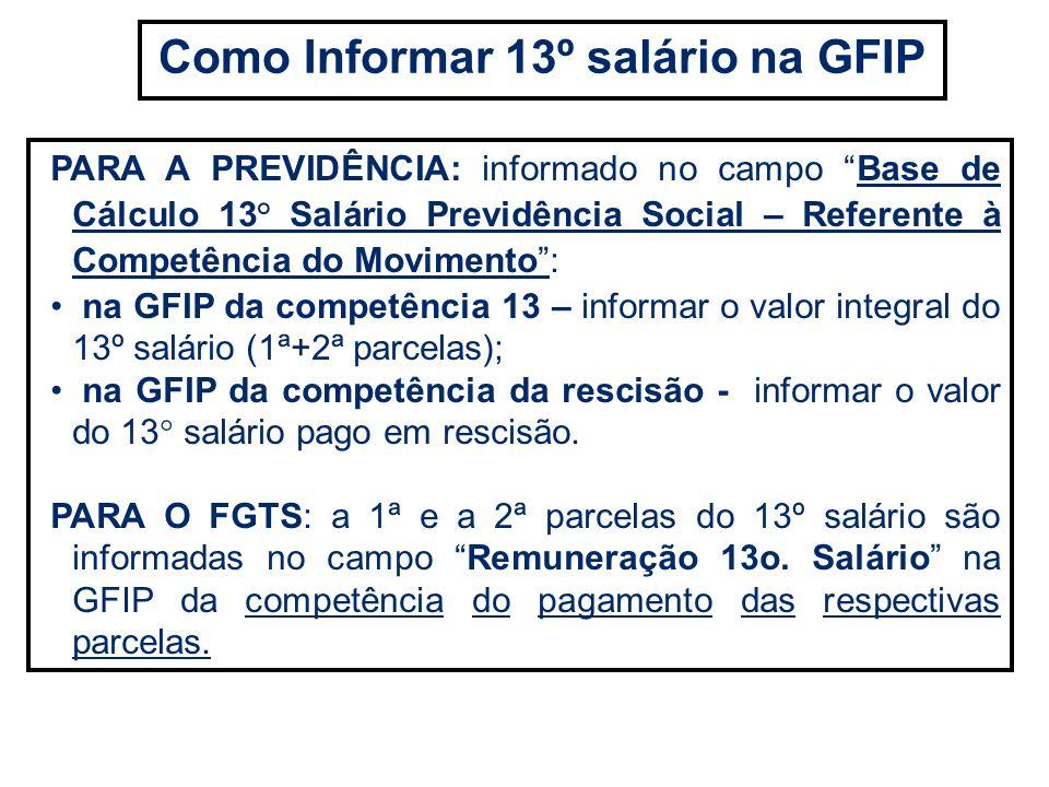 Como Informar 13º salário na GFIP