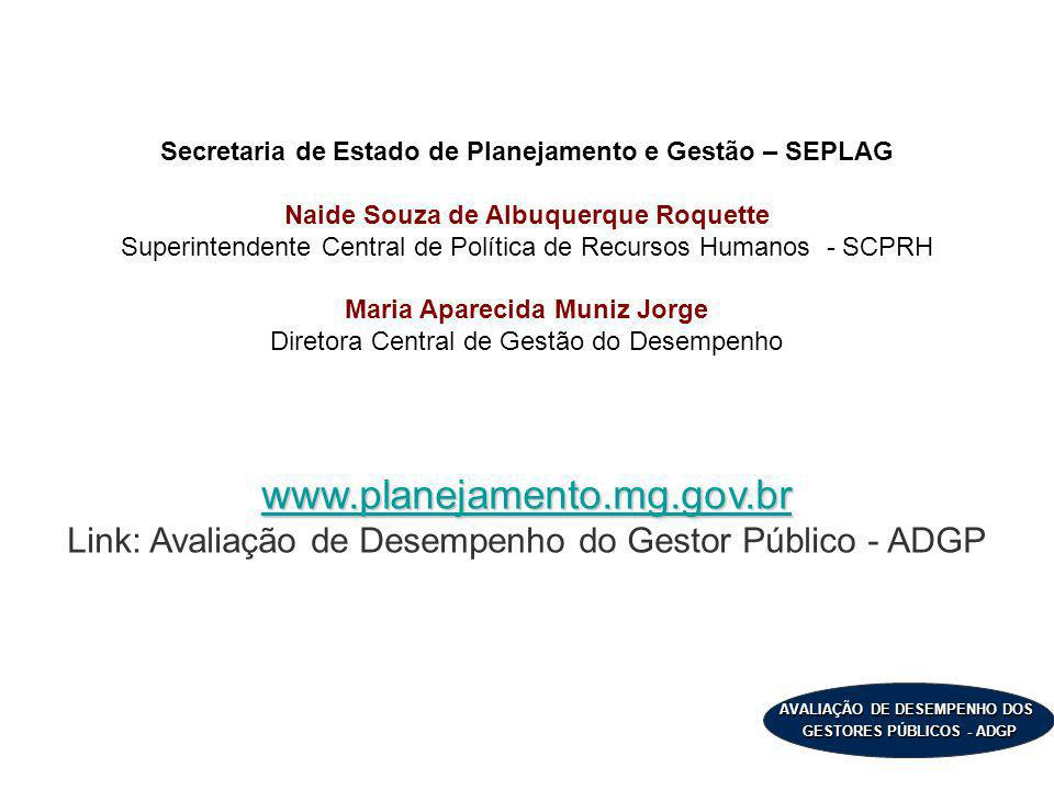 Secretaria de Estado de Planejamento e Gestão – SEPLAG