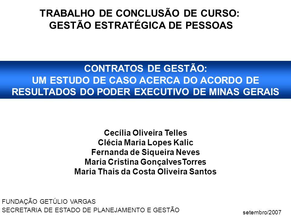 TRABALHO DE CONCLUSÃO DE CURSO: GESTÃO ESTRATÉGICA DE PESSOAS