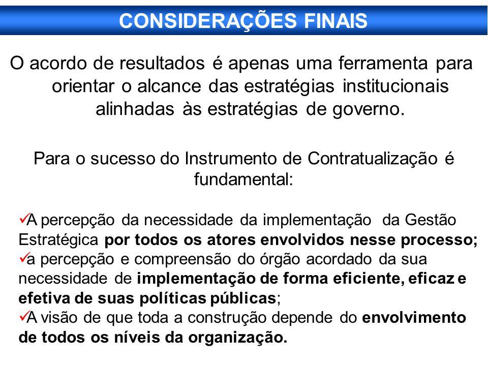 Para o sucesso do Instrumento de Contratualização é fundamental: