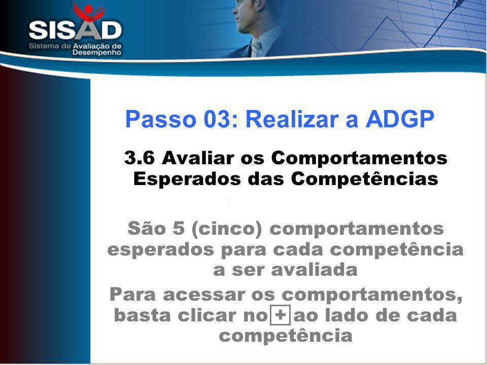 3.6 Avaliar os Comportamentos Esperados das Competências