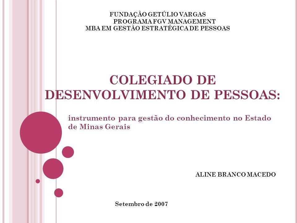 COLEGIADO DE DESENVOLVIMENTO DE PESSOAS: