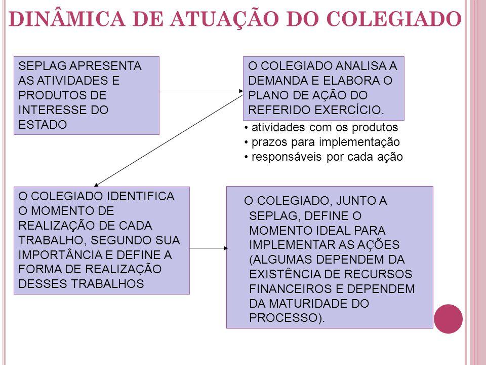 DINÂMICA DE ATUAÇÃO DO COLEGIADO