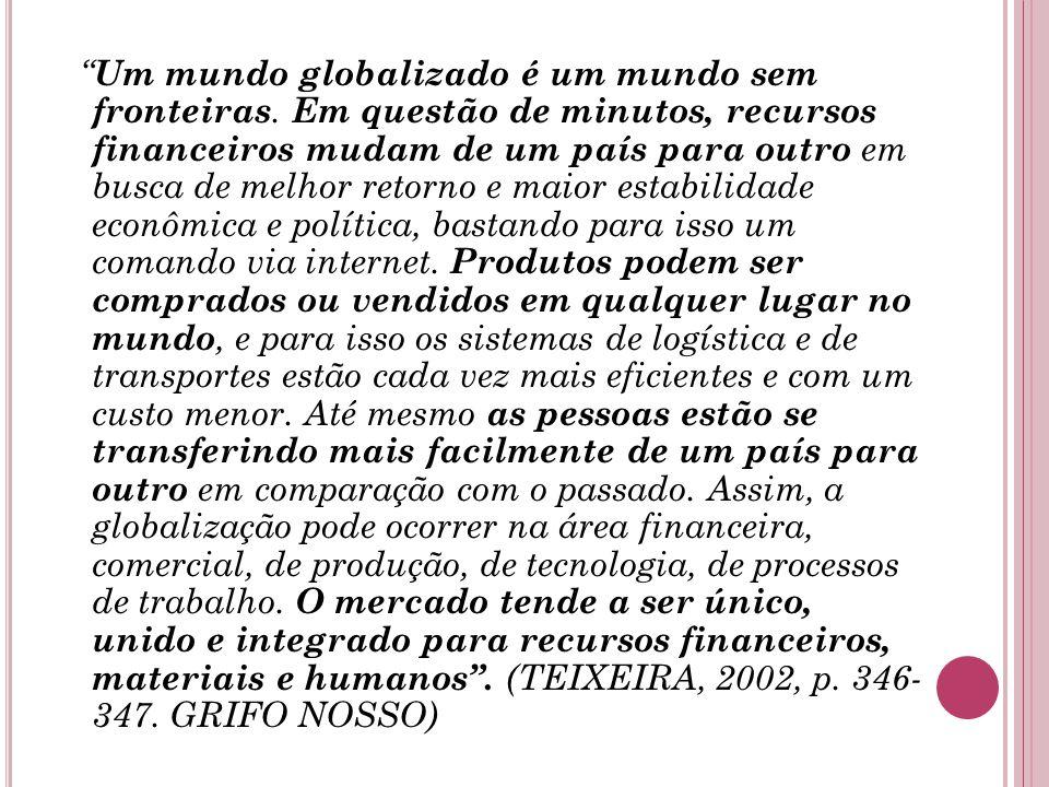Um mundo globalizado é um mundo sem fronteiras