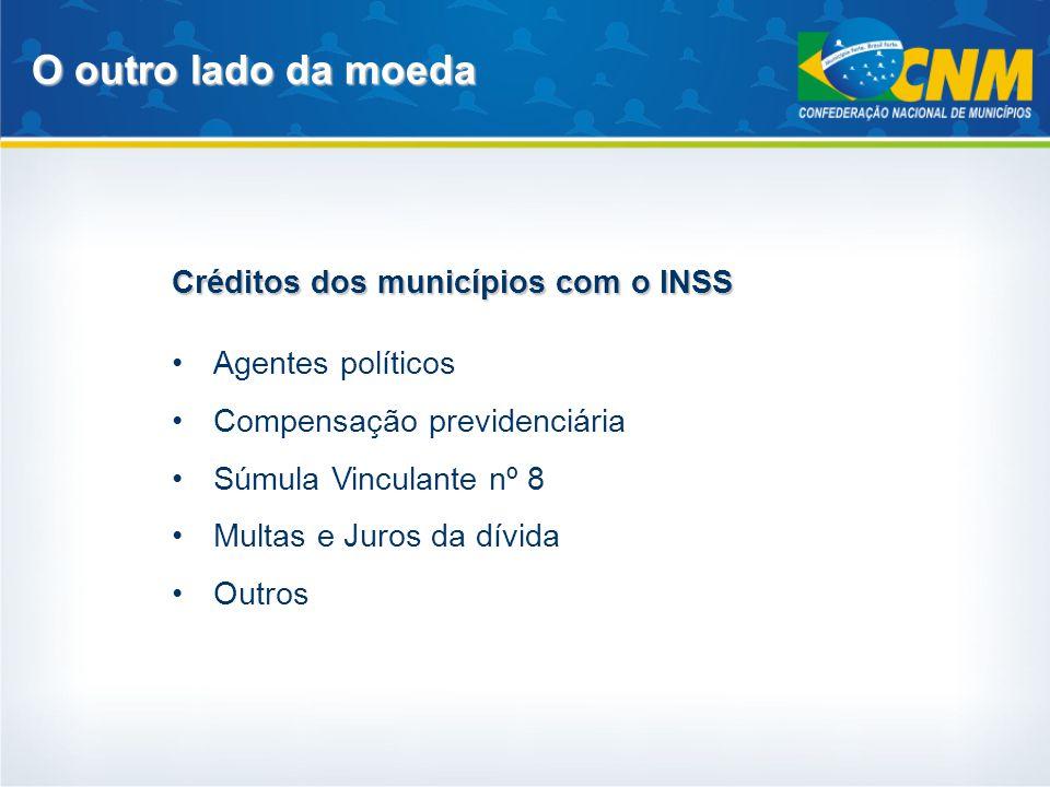 O outro lado da moeda Créditos dos municípios com o INSS