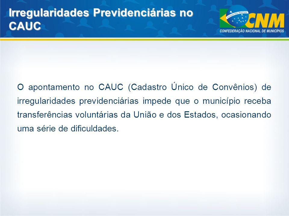 Irregularidades Previdenciárias no CAUC
