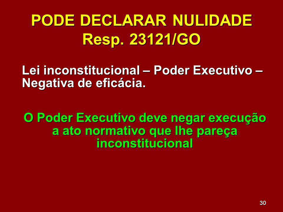 PODE DECLARAR NULIDADE Resp. 23121/GO