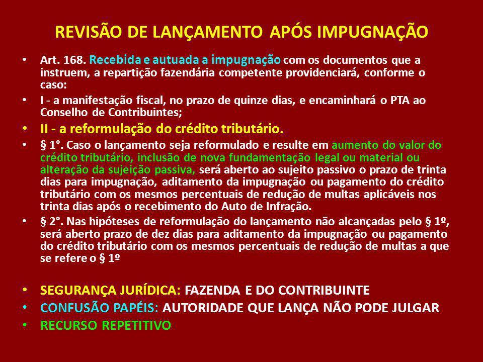 REVISÃO DE LANÇAMENTO APÓS IMPUGNAÇÃO