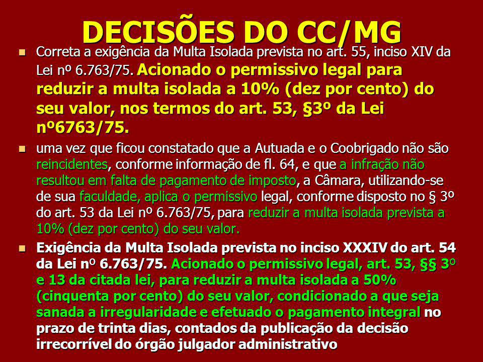 DECISÕES DO CC/MG