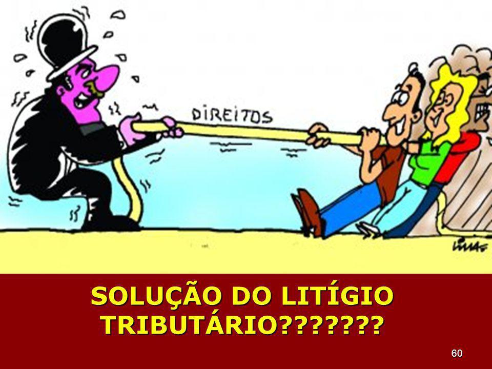 SOLUÇÃO DO LITÍGIO TRIBUTÁRIO