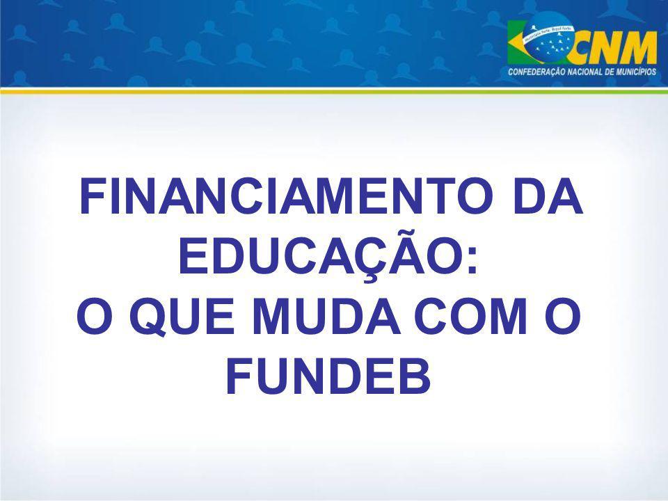 FINANCIAMENTO DA EDUCAÇÃO: