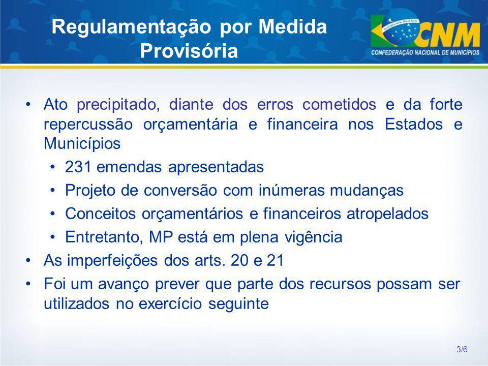 Regulamentação por Medida Provisória
