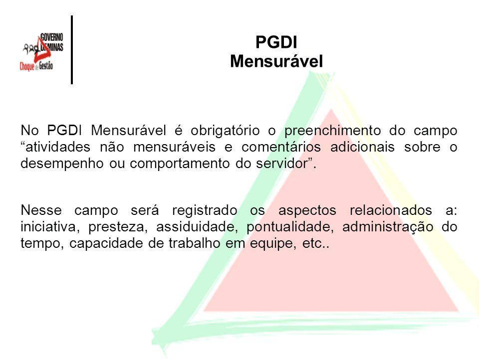 PGDI Mensurável