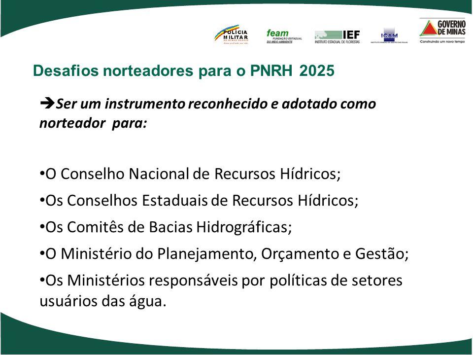 O Conselho Nacional de Recursos Hídricos;