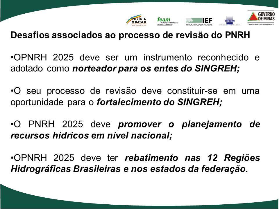 Desafios associados ao processo de revisão do PNRH