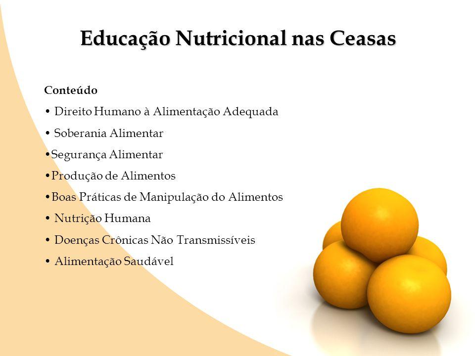 Educação Nutricional nas Ceasas