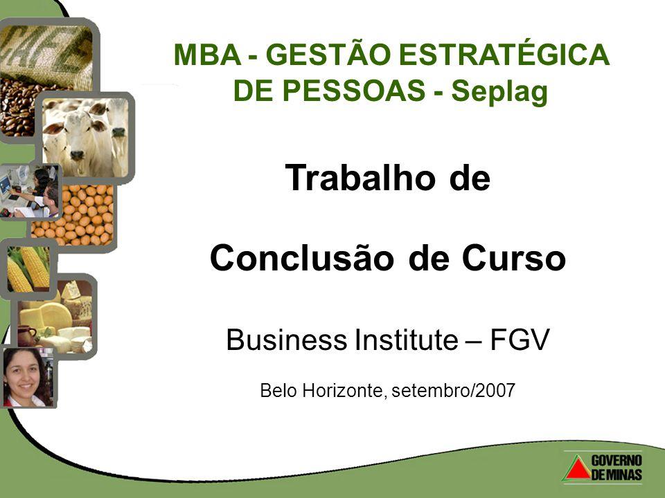 MBA - GESTÃO ESTRATÉGICA DE PESSOAS - Seplag