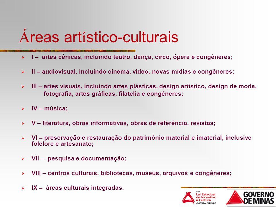 Áreas artístico-culturais