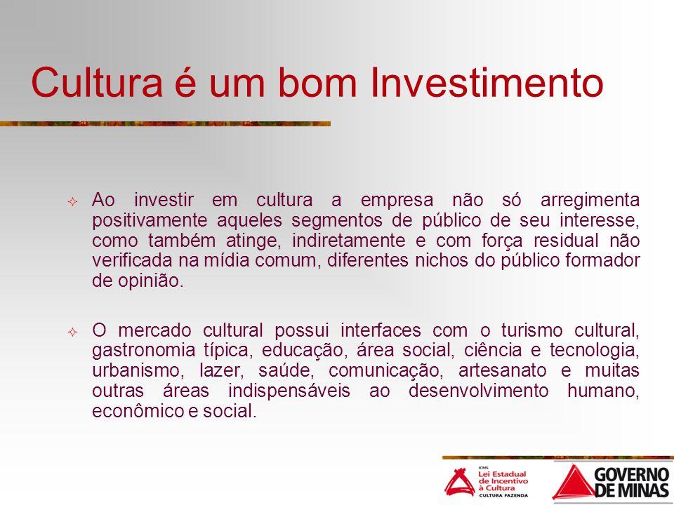 Cultura é um bom Investimento