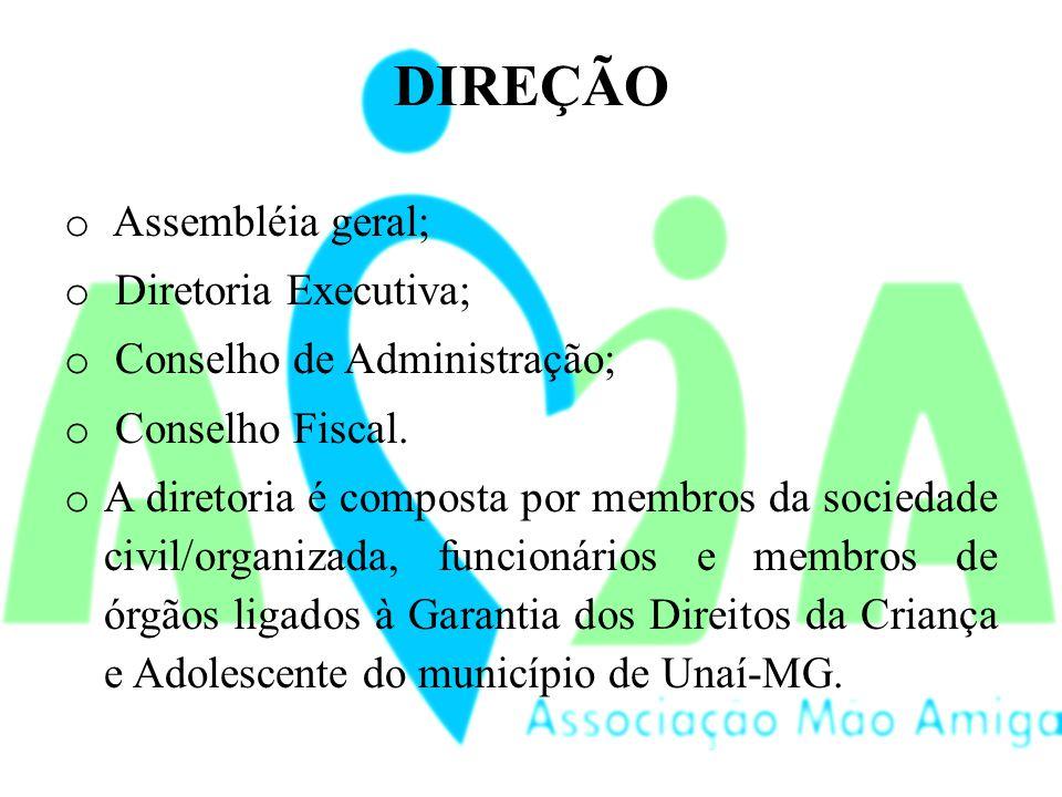 DIREÇÃO Assembléia geral; Diretoria Executiva;
