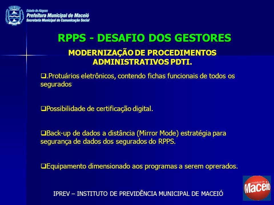 RPPS - DESAFIO DOS GESTORES
