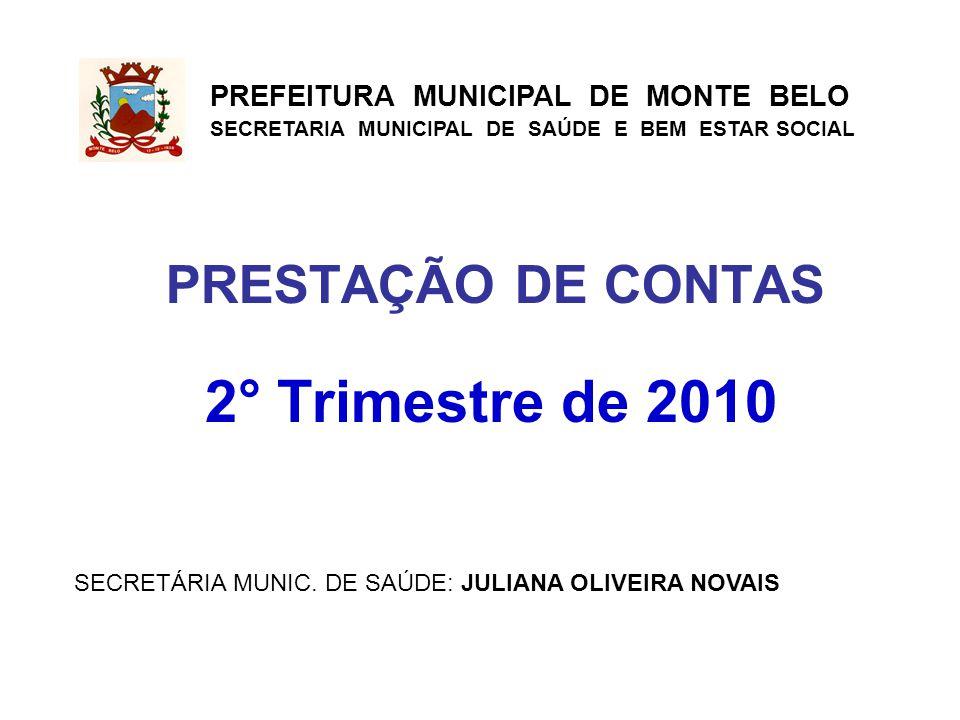 2° Trimestre de 2010 PRESTAÇÃO DE CONTAS