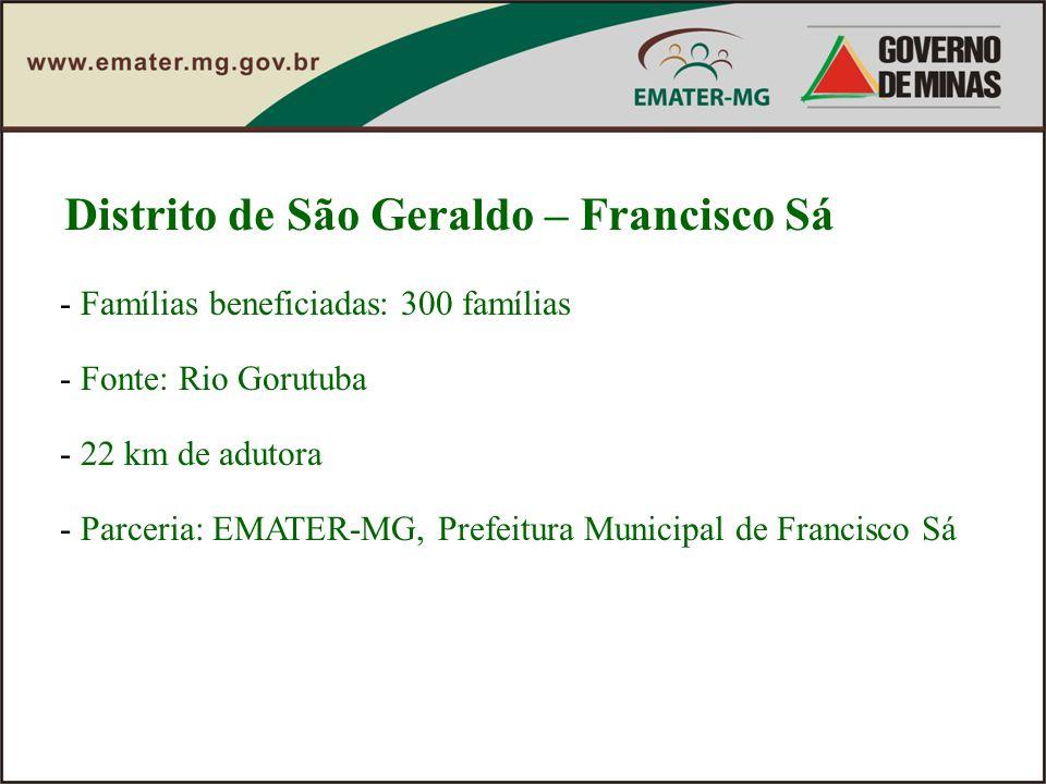 Distrito de São Geraldo – Francisco Sá