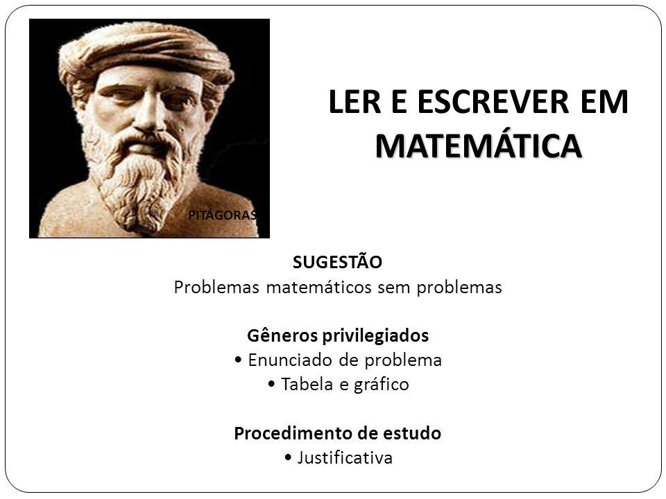 LER E ESCREVER EM MATEMÁTICA