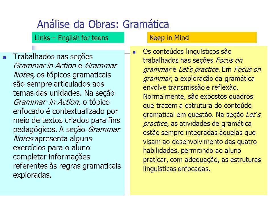 Análise da Obras: Gramática
