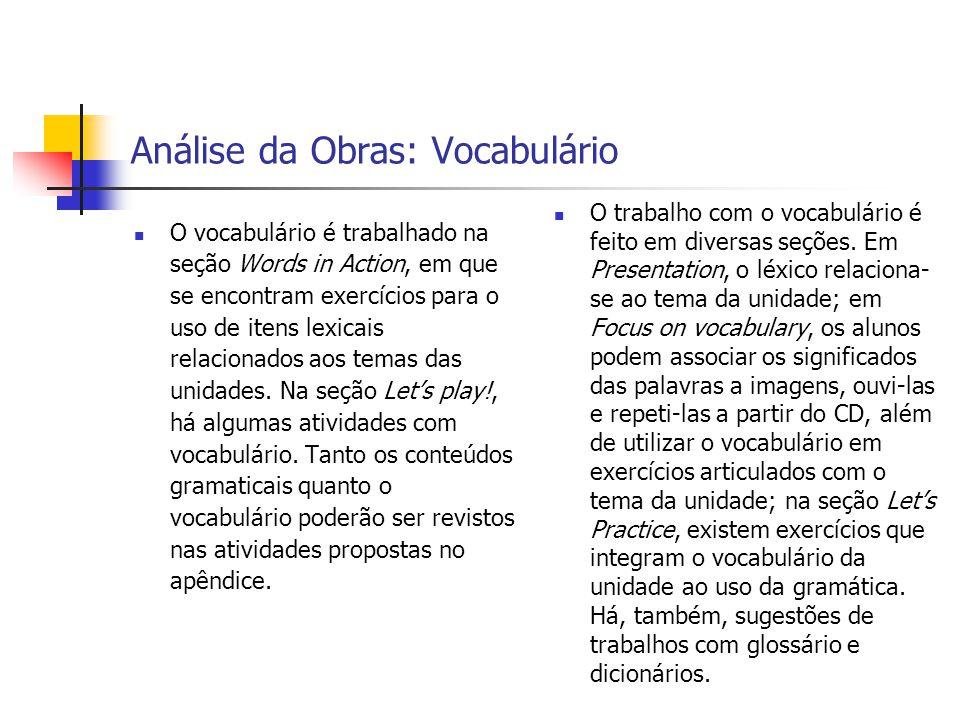 Análise da Obras: Vocabulário
