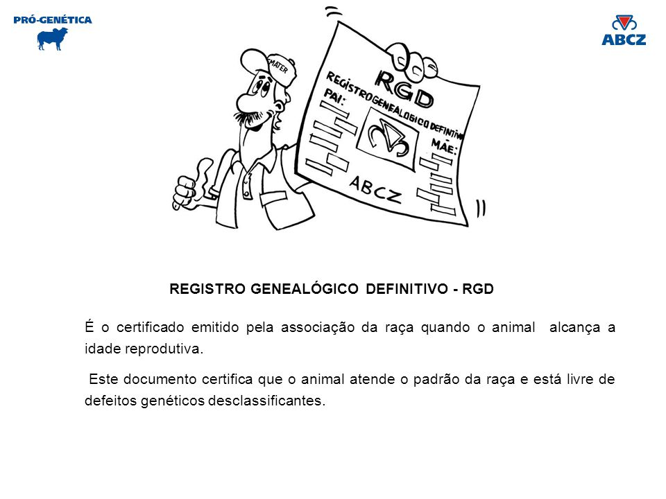 REGISTRO GENEALÓGICO DEFINITIVO - RGD