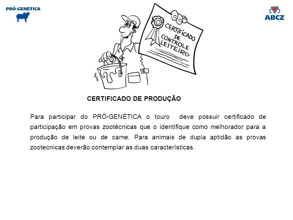 CERTIFICADO DE PRODUÇÃO