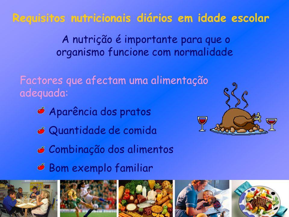 A nutrição é importante para que o organismo funcione com normalidade