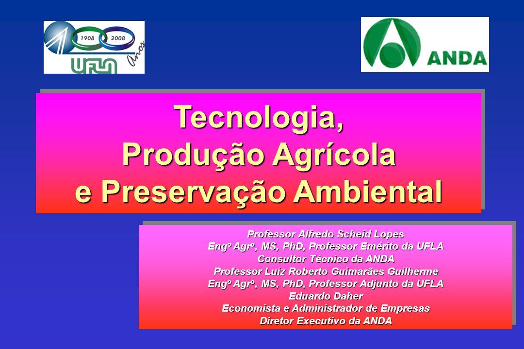 Tecnologia, Produção Agrícola e Preservação Ambiental