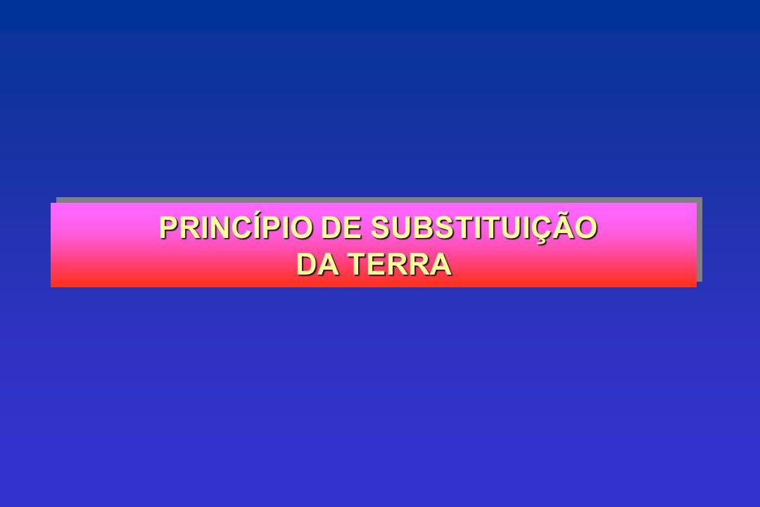 PRINCÍPIO DE SUBSTITUIÇÃO DA TERRA