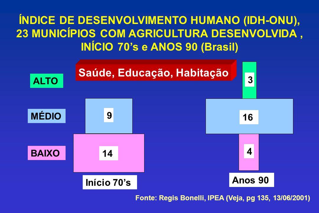 ÍNDICE DE DESENVOLVIMENTO HUMANO (IDH-ONU),