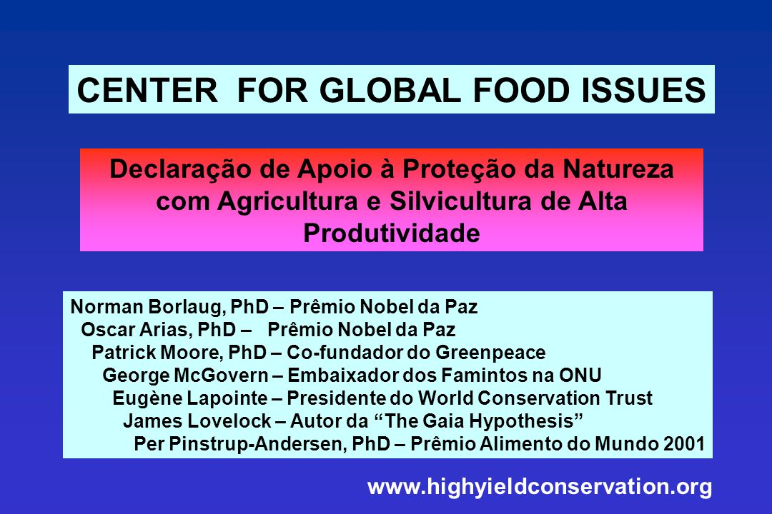 CENTER FOR GLOBAL FOOD ISSUES