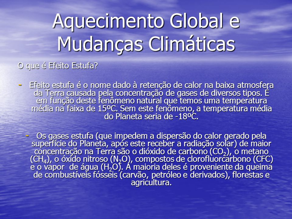 Aquecimento Global e Mudanças Climáticas