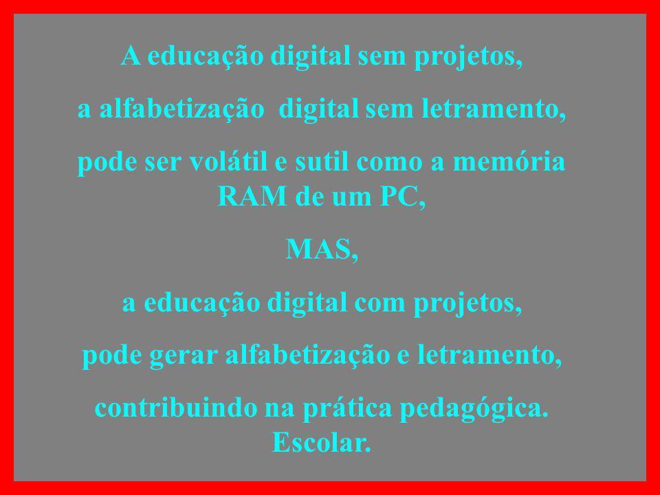 A educação digital sem projetos,