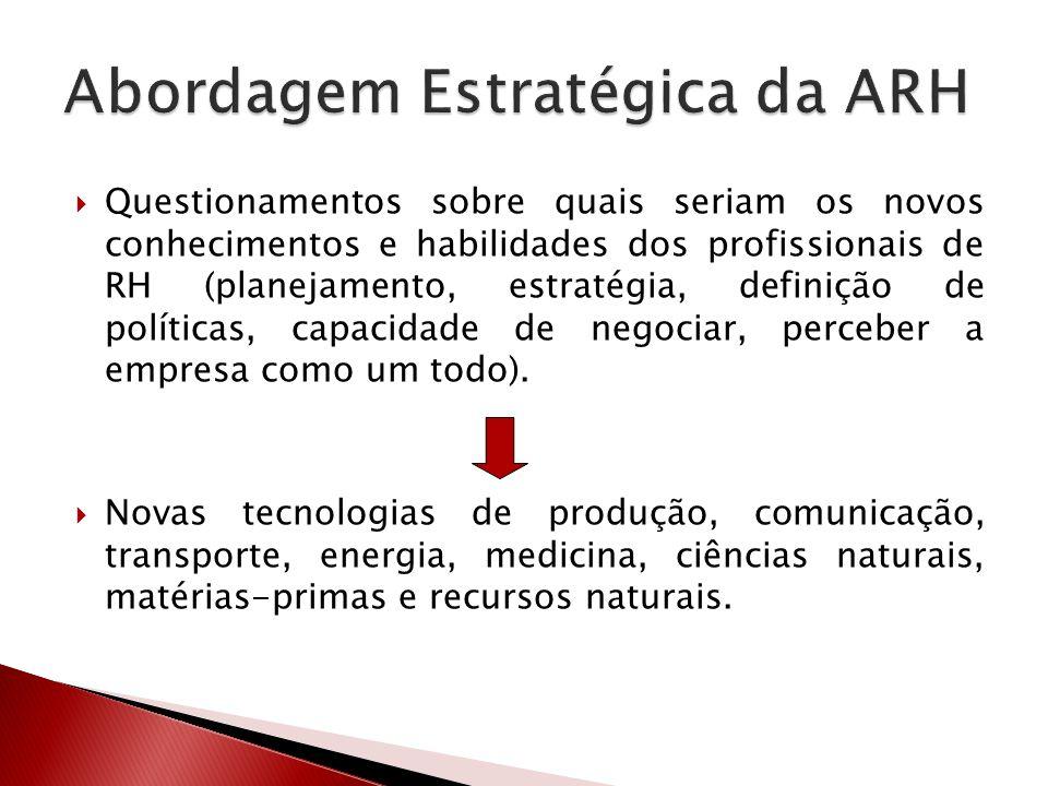 Abordagem Estratégica da ARH