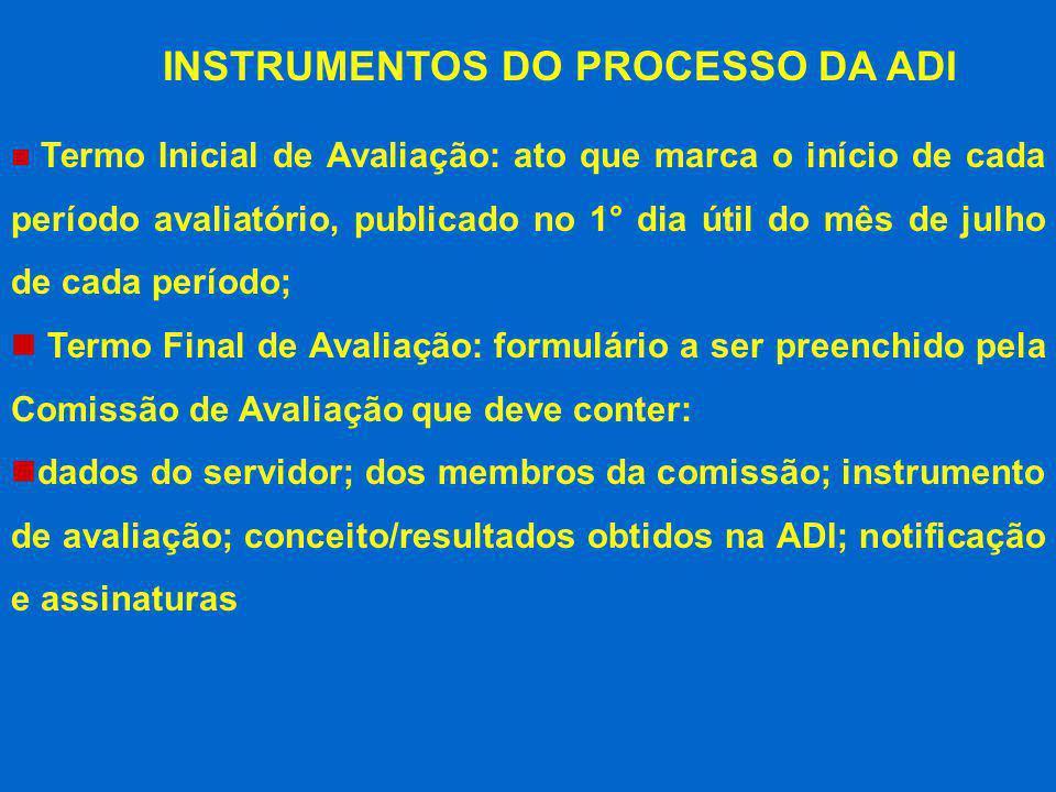 INSTRUMENTOS DO PROCESSO DA ADI
