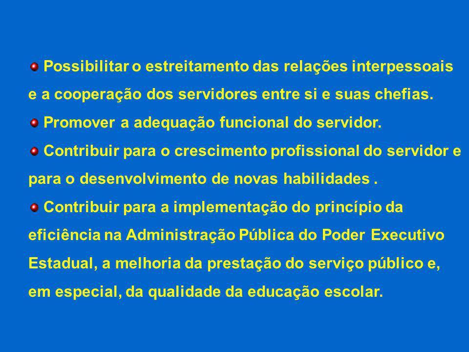 Possibilitar o estreitamento das relações interpessoais e a cooperação dos servidores entre si e suas chefias.