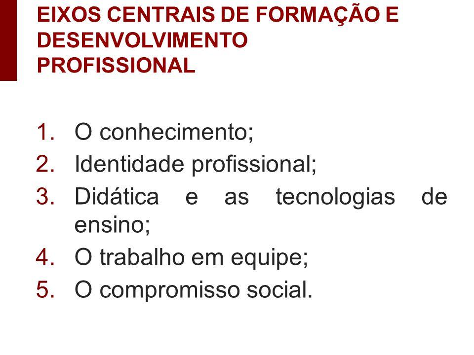 Identidade profissional; Didática e as tecnologias de ensino;