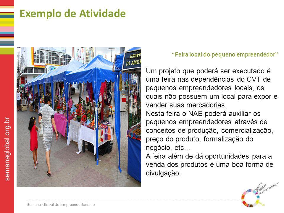 Exemplo de Atividade Feira local do pequeno empreendedor