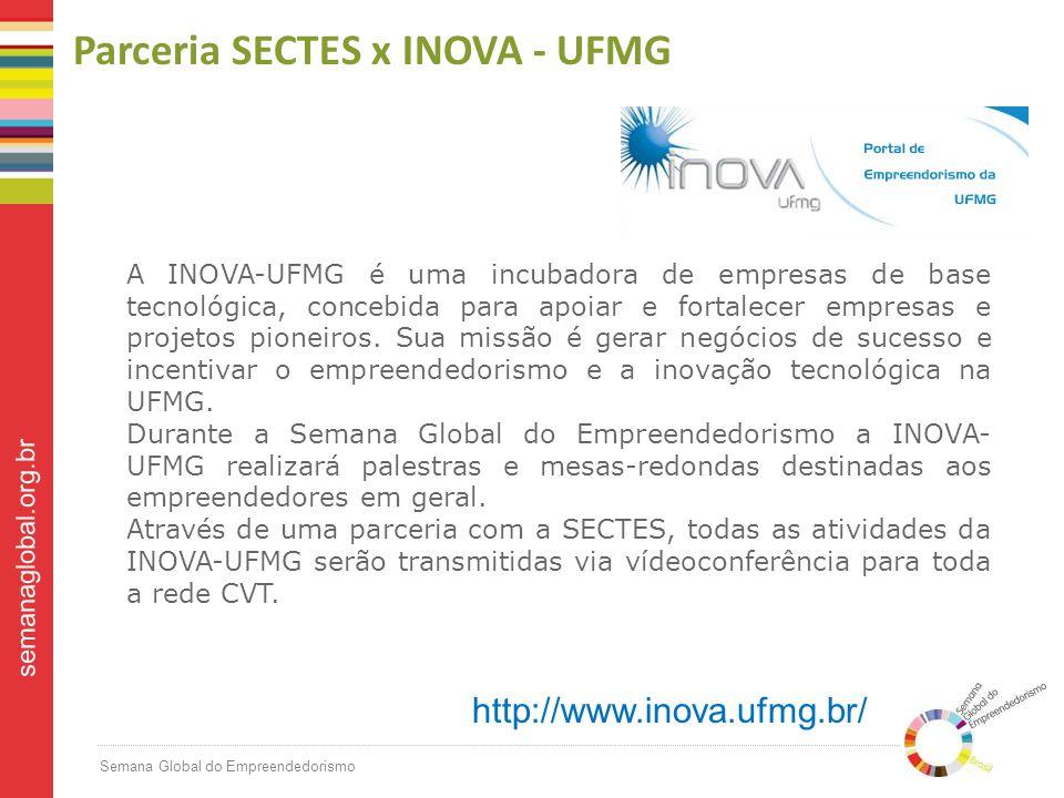 Parceria SECTES x INOVA - UFMG