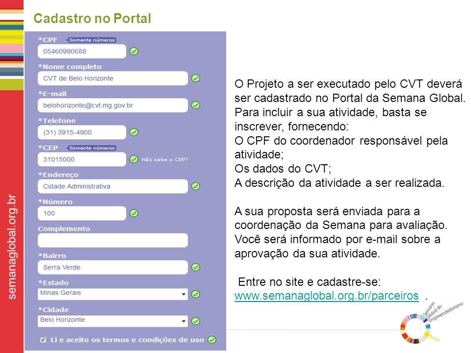 Cadastro no Portal