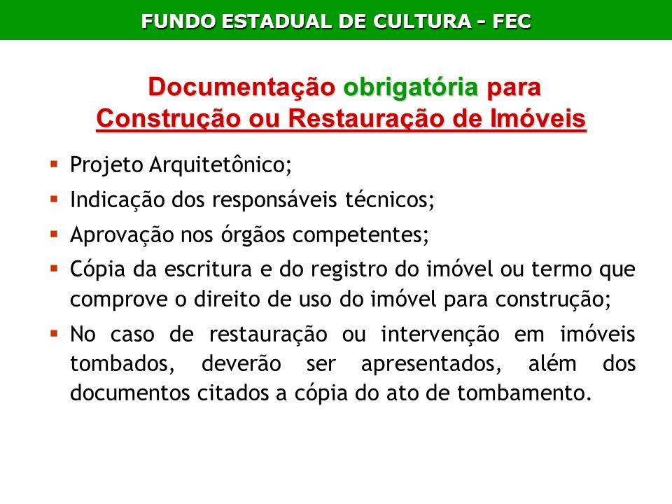 Documentação obrigatória para Construção ou Restauração de Imóveis