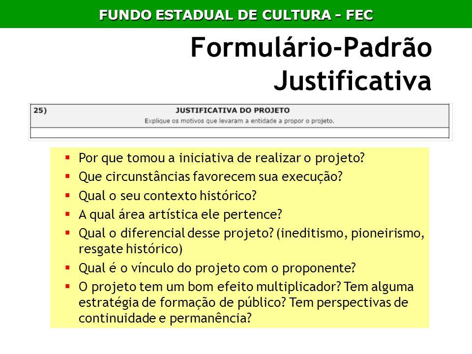 Formulário-Padrão Justificativa