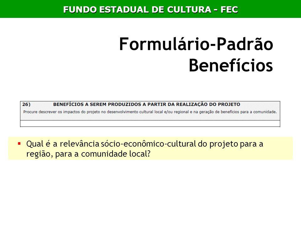 Formulário-Padrão Benefícios