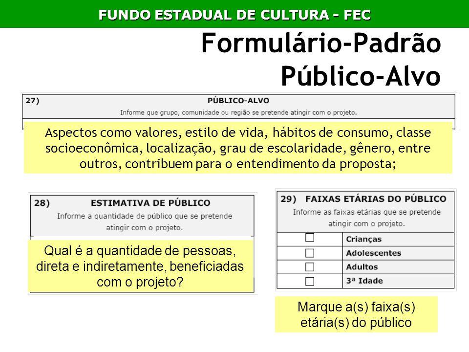 Formulário-Padrão Público-Alvo